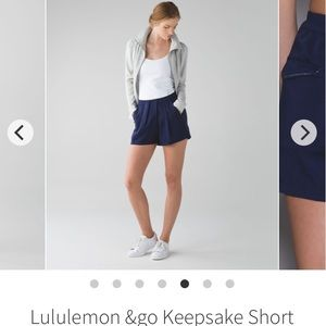Lululemon &Go Keepsake Short Sz 2 Hero Blue W7F95S